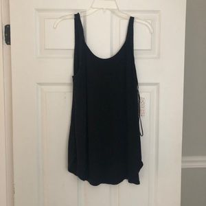 NWT Free People Black Backless  Tank Size Large
